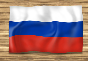 Russia Flag Wood Design