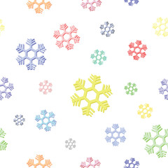 seamless background of colorful snowflake vector