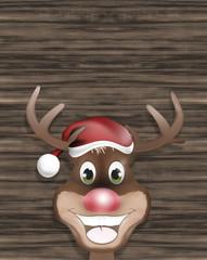 Reindeer Christmas Look Wood Design