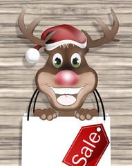 Reindeer Wood Bag Design