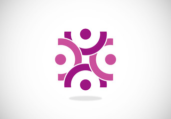 circle people decorative abstract vector logo