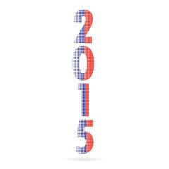 Creative happy new year 2015 text Design.