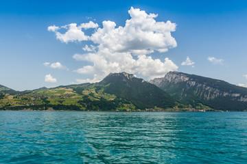 Beautiful mountain, Lake Thun, Switzerland