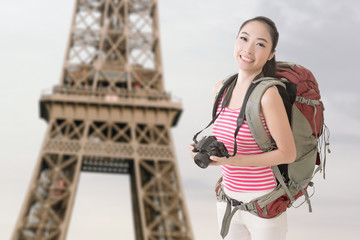 backpacker with camera