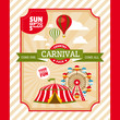 Country fair vintage invitation card - 69185451