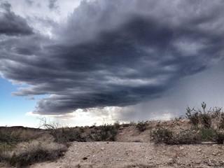Thunderstorm over the desert near Las Vegas Nevada