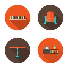 Flat Furniture icons set