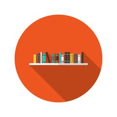Book Shelve flat icon