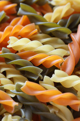 Colorful Fusilli Pasta