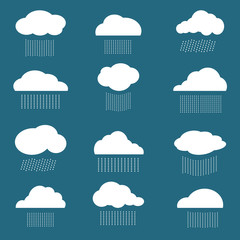 Vector image of cloud and rain