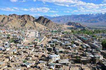 Leh city in Ladakh,India