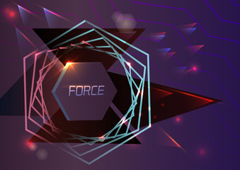 Abstract background denoting force