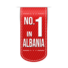 Number one in Albania banner design