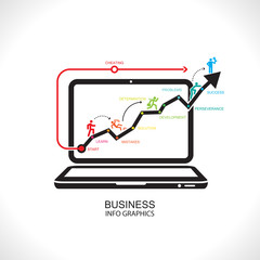 Business chart success ,Illustration eps 10