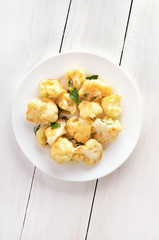 Cauliflower baked with egg