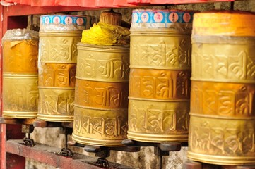 buddhist prayer wheels in tibet,china