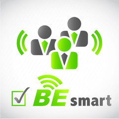 picto homme d'affaires : be smart