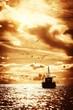 Fisherman's boat in a sea - 69188858