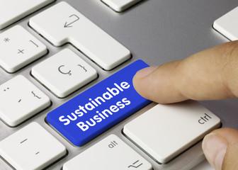 Sustainable business. Keyboard