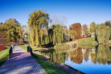 Moczydlo Park in Warsaw