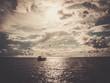 Fisherman's boat in a sea - 69189043