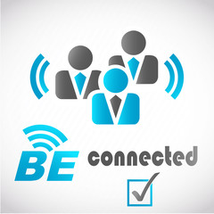 picto homme d'affaires : be connected