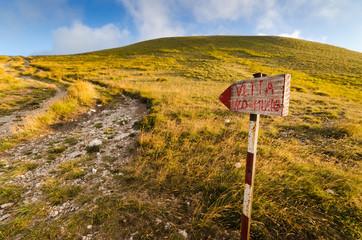 Sentiero verso la Vetta