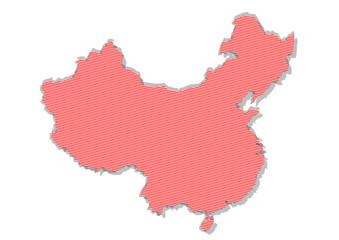kırmızı çizgili çin haritası