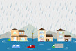 洪水の街 - 69189425