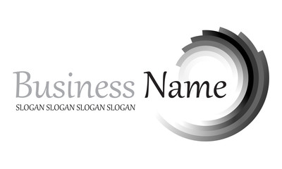 Logo dégradé noir