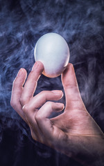 Egg in a hand