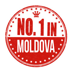 Number one in Moldova stamp