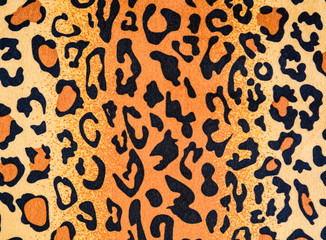 texture of leopard leather fabric