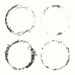 Set of grunge circles, stamp design,vector illustration