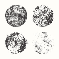 Set of grunge circles, vector illustration