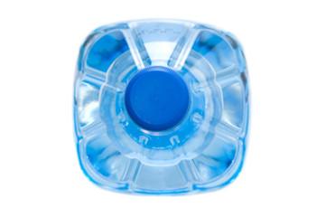 Plastic bottle of water. Top view