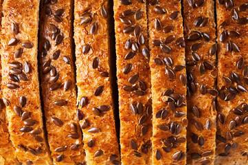Sliced wheat bread closeup