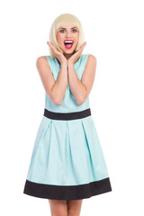 Excited elegance blonde girl