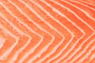 Closeup of beautiful raw salmon steak.