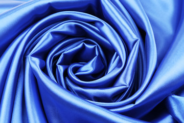 Blue silk background.