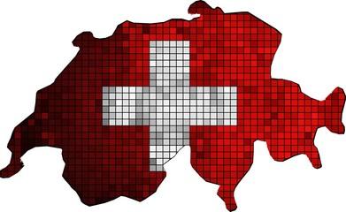 Switzerland map grunge mosaic