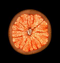 arancia in controluce