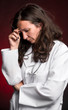 Portrait of sad female doctor