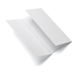 folded leaflet white blank paper template book