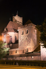 Sights of Poland. The greatest in Europe Gothic Castle-Malbork