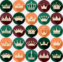 Crowns seamless pattern