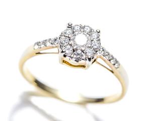 Diamond Ring Closeup White background