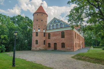 Castle in Raudondvaris, Lithuania