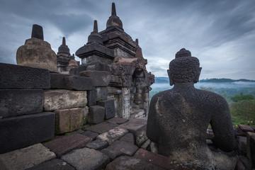 Buddha statue in Borobudur