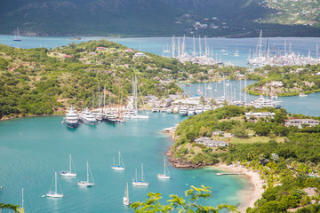 Many Yachts in Protected Harbors